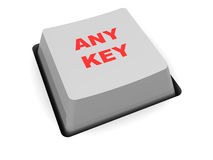 'any key' button Stock Images
