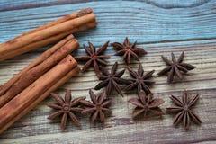 anyżowi cynamonu gwiazdy kije Fotografia Stock