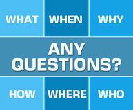 Any Questions Blue Grid Royalty Free Stock Photo