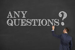 Any Questions on Chalkboard Royalty Free Stock Photos