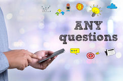 ANY questions and  CLIENTS CONSULTING Royalty Free Stock Photos
