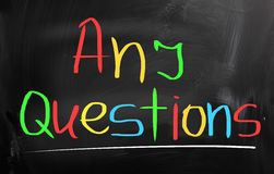 Any Questions Concept Royalty Free Stock Images