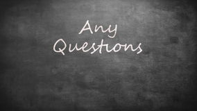Any questions?. On grey screen stock video