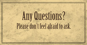 Any Questions, Please Ask Banner royalty free illustration