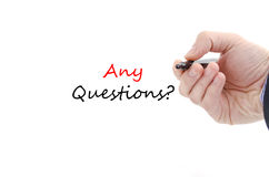 Any questions text concept Royalty Free Stock Photo