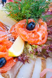 Any sliced fish for banquet Stock Photography