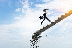 Any step maybe the last. Mixed media Stock Photography