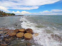 Anyer coastline Royalty Free Stock Photos
