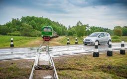 Anyksciai λίγο τραίνο Στοκ Εικόνες