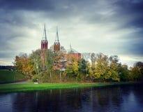 Anyksciai kyrka Arkivbild