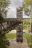ANYKSCIAI, LITAUEN - oktober, 2017: LAJU-TAKA Treetop-Gehweg Lizenzfreie Stockbilder