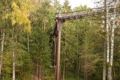 ANYKSCIAI, LITAUEN - oktober, 2017: LAJU-TAKA Treetop-Gehweg Lizenzfreies Stockfoto