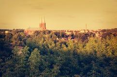 Anyksciai stad i Litauen royaltyfri fotografi