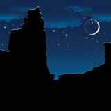 Anyon ¡ Ð на ноче вектор Стоковые Изображения
