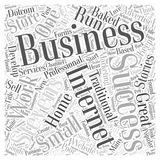 Anyone Can Do It Small E business Success Stories word cloud concept vector background Royalty Free Stock Photography