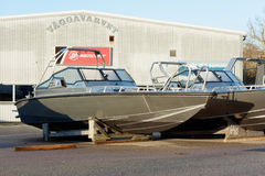 Anytec aluminium łódź Zdjęcia Stock