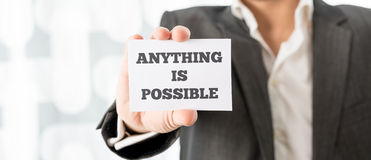 Anything is possible Stock Photography