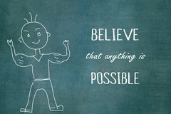 Anything is possible message over chalkboard Stock Images