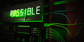 Possible in green neon Stock Images