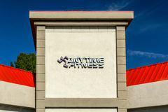 Anytime Fitness Sign and Exterior Royalty Free Stock Photo