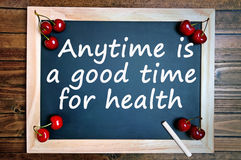 Anytime is a good time for health Royalty Free Stock Photo
