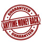 Anytime money back. Stamp with text anytime money back inside, illustration royalty free illustration