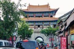 ` Anyuan wierza ` Północna brama Dal jest klasycznym architektury przedstawicielstwem Porcelanowa ` s Ming dynastia Ludzie konser Fotografia Stock