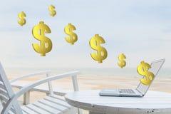Anywhere making money Royalty Free Stock Image