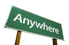 Anywhere road sign Royalty Free Stock Photos