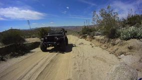 Anza Borrego Desert California - Dirt Road 2 JEEPS stock video footage