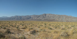 Anza-Borrego State Park. Panoramic photo of desert landscape in Anza-Borrego State Park in California Stock Photography