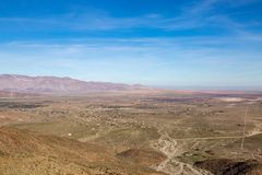 Anza-Borrego State Park View. Looking out across the vast desert, at Anza-Borrego Desert State Park royalty free stock photography