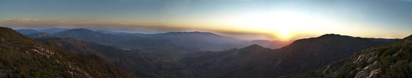 Anza-Borrego Sunrise. Sunrise over the Laguna mountains looking towards Anza-Borrego State Park in San Diego county California stock image