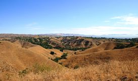 Anza Loop Panorama. View of sky and rolling hills, California Stock Photography