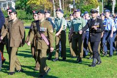 Anzac ημέρα 2018, Tauranga, Νέα Ζηλανδία: Αναμνηστικό πάρκο Στοκ φωτογραφία με δικαίωμα ελεύθερης χρήσης