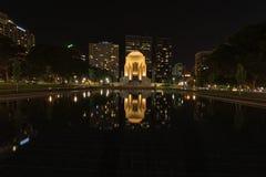 Anzac το αναμνηστικό Χάιντ Παρκ στο Σίδνεϊ Αυστραλία τη νύχτα Στοκ Φωτογραφία