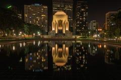 Anzac το αναμνηστικό Χάιντ Παρκ στο Σίδνεϊ Αυστραλία τη νύχτα Στοκ εικόνες με δικαίωμα ελεύθερης χρήσης