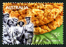 Anzac Biscuits Australian Postage Stamp Photos stock