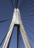 Anzac bridge. Pyrmont, Australia. Bridge cables splay out stock photo