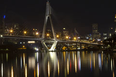 Anzac Bridge At Night Time, Sydney Australia Royalty Free Stock Image