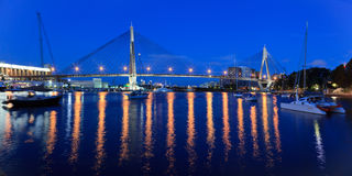 Anzac bridge boats pan Stock Photography