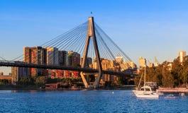 Anzac Bridge in Sydney City, Australia. Anzac Bridge in Glebe, Sydney, Australia royalty free stock photo