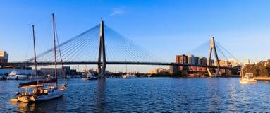 Anzac Bridge in Sydney City, Australia. Anzac Bridge in Glebe, Sydney, Australia royalty free stock image