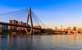Anzac Bridge in Sydney City, Australia. Anzac Bridge in Glebe, Sydney, Australia stock photos