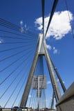 Anzac Bridge, Sydney. Image of Anzac Bridge in Sydney, Australia. This is the longest cable-stayed bridge in Australia and one of the longest in the world stock image
