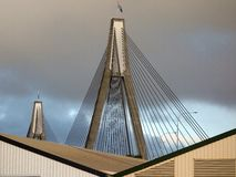 Anzac Bridge, Sydney. Anzac Bridge, cable stayed construction, Sydney, Australia royalty free stock photography