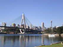 Anzac Bridge & Sydney CBD. Anazc bridge and Sydney CBD taken from glebe Stock Photography