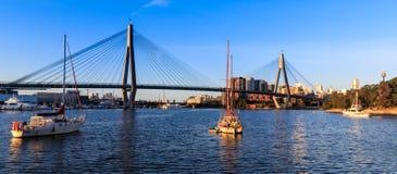 Anzac Bridge in Sydney City, Australia. Anzac Bridge in Glebe, Sydney, Australia stock images