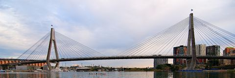 Anzac Bridge. Sydney. Royalty Free Stock Images