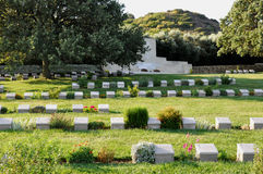 Ari Burnu Cemetery, Anzac Cove, Gallipoli, Turkey Royalty Free Stock Photo
